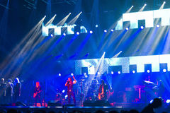 Trans Siberian Orchestra in concert Stock Images