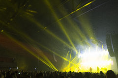 Trans Siberian Orchestra in concert Stock Image