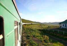 Trans-Siberian Railway from beijing china to ulaanbaatar mongolia Royalty Free Stock Photography