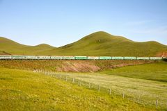 Trans-Siberian Railway from beijing china to ulaanbaatar mongolia Royalty Free Stock Photo