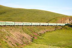 Trans-Siberian Railway from beijing china to ulaanbaatar mongolia Royalty Free Stock Images