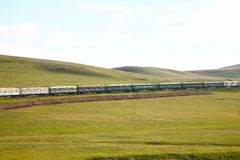 Trans-Siberian Railway from beijing china to ulaanbaatar mongolia Stock Photo