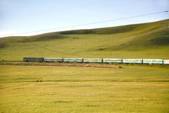 Trans-Siberian Railway from beijing china to ulaanbaatar mongolia Stock Photography