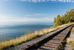 Trans Siberian railway Stock Photo