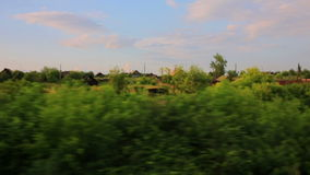 Trans Siberian train journey. View from window during Trans Siberian train journey stock footage
