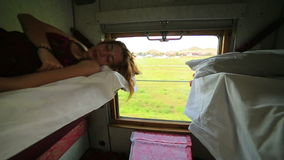 Trans Siberian train journey Royalty Free Stock Photo