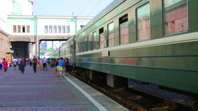 Trans Siberian train station, Novosibirsk stock video