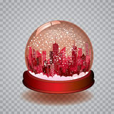Trans snow globe Stock Photo