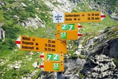 Trans Swiss trail Stock Photo