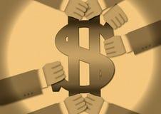 Transação do dinheiro Fotografia de Stock