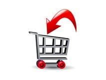 Transacción del carro de compras ilustración del vector