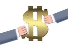 Transacción del dinero Fotografía de archivo libre de regalías