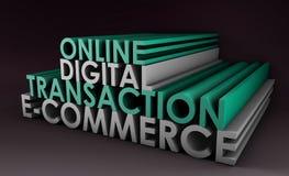 Transacción en línea de Digitaces stock de ilustración