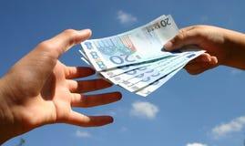 Transacción de efectivo Imagen de archivo libre de regalías