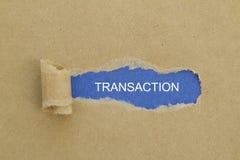 transactie Royalty-vrije Stock Afbeeldingen