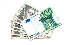 Transaction de devise Photographie stock libre de droits