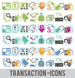 Transaction icons Stock Photography