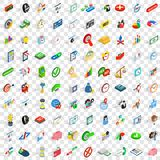 100 transaction icons set, isometric 3d style. 100 transaction icons set in isometric 3d style for any design vector illustration Stock Image