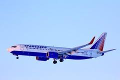 Transaero波音737 图库摄影