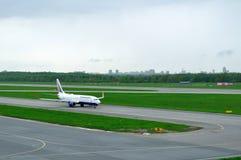Transaero Airline Boeing 737-85P aircraft  in Pulkovo International airport in Saint-Petersburg, Russia Stock Photos