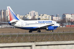 Transaero Airlines Boeing 737-524 aircraft Royalty Free Stock Photography