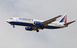 Transaero Airlines Boeing 737 Royalty Free Stock Images