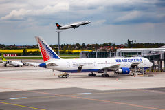 Transaero Airlines Stock Photography