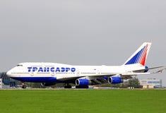Transaero Boeing 747 Foto de Stock Royalty Free