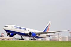 Transaero Boeing 777 Photos stock