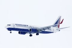 Transaero Boeing 737 royalty-vrije stock afbeelding