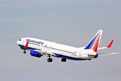 Transaero Boeing 737 royalty-vrije stock foto's