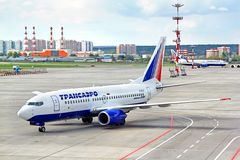Transaero Boeing 737 royalty-vrije stock fotografie