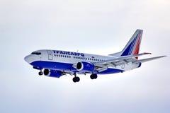 Transaero Boeing 737 stock foto's