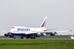 Transaero Boeing 747 Foto de Stock