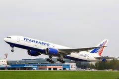 Transaero Boeing 777 stock afbeeldingen