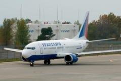 Transaero Boeing 737 Zdjęcie Stock