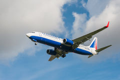 Transaero Boeing 737 Royalty Free Stock Photography
