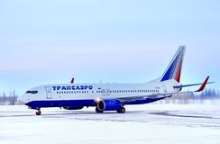 Transaero Boeing 737 Royalty Free Stock Images