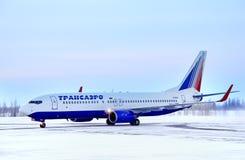 Transaero Boeing 737 Royalty Free Stock Images