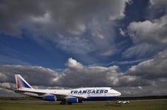 Transaero Boeing 747-400 Fotografia de Stock