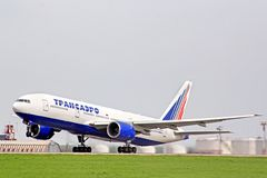 Transaero Boeing 777 Stock Photos
