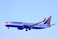 Transaero Boeing 737 Stock Photography