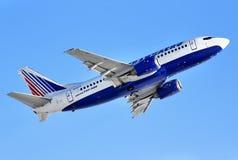 Transaero Boeing 737 stock photography