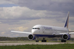 Transaero Boeing 767-300 Royalty Free Stock Photography