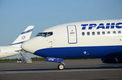 Transaero Royalty Free Stock Photo