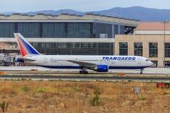 Transaero Boeing 767-300 Royalty Free Stock Image