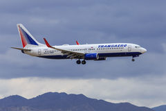 Free Transaero Jet Approaching To Land Royalty Free Stock Photography - 44859007