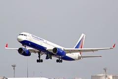 Transaero Tupolev Turkije-214 royalty-vrije stock afbeeldingen