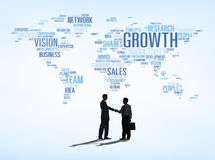 Transakcja Biznesowa sukces z Światową mapą Zdjęcia Stock