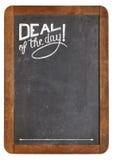 Transakcja dzień na blackboard zdjęcie stock